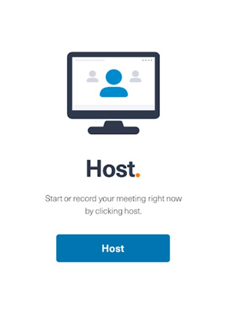 FreeConferenceCall.com host screen